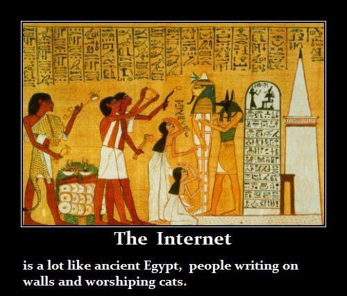 Internet like ancient egypt