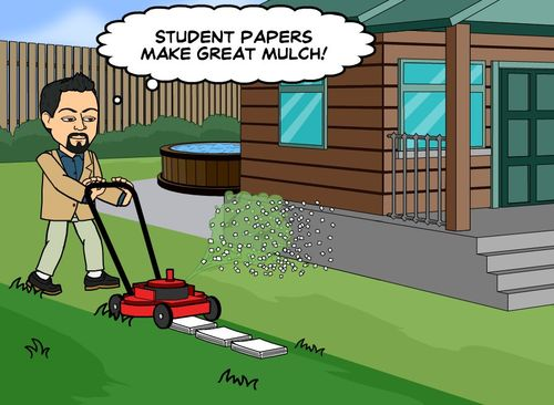 Student papers mulch
